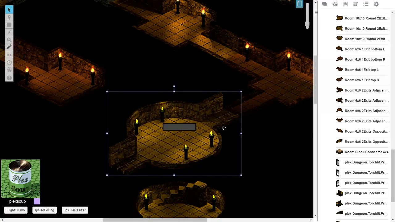 Roll20 create a lit, isometric dungeon in 20 minutes