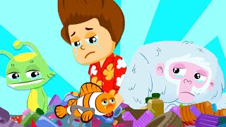 Superzoo, we have to finish with Plastic Island! - Cartoon