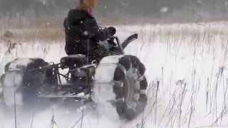 Самодельный Снегоход На Озере.