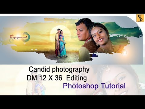 indian wedding Candid photography digital mixing 12x36 [ss Designers]