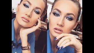 Макияж в синих тонах,вечерний макияж