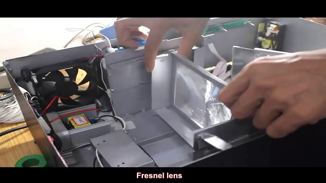 DIY Projector IPS LCD & 200w LED Part 4 - YouTube