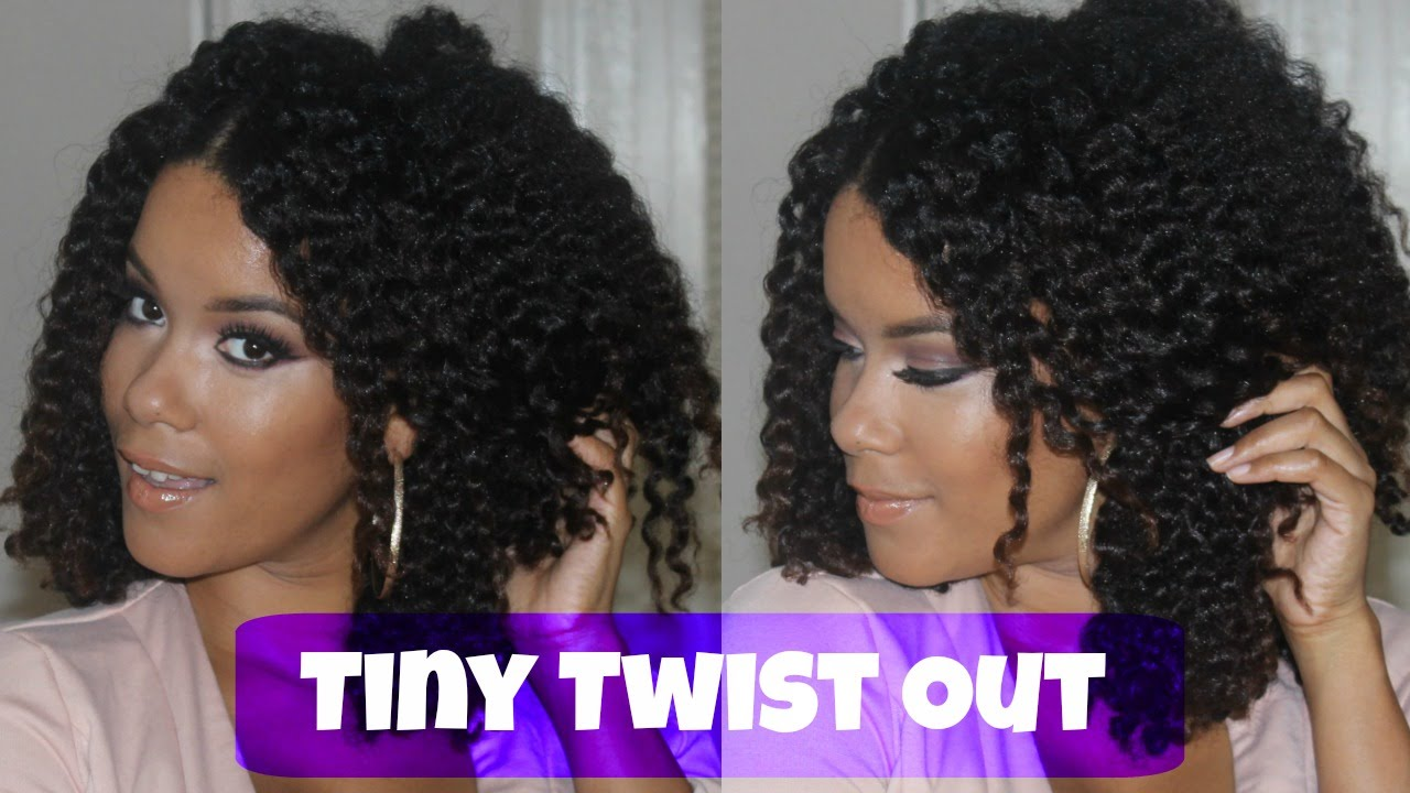 Natural Hair Small Twist Out Tutorial Part 2 Youtube