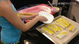Как приготовить бананы в слоёном тесте.