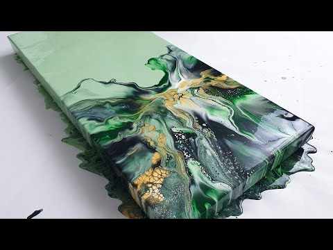 NEW Acrylic Pouring with LOTS of Cells & Lacing - Fluid Painting Demo