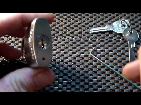 -(046)- Brinks Stainless Steel 30mm 5-pin padlock. Picked and Explored