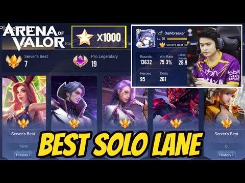 BEST SOLO LANE EU 1000 STARS | AoV | 傳說對決 | RoV | Liên Quân Mobile