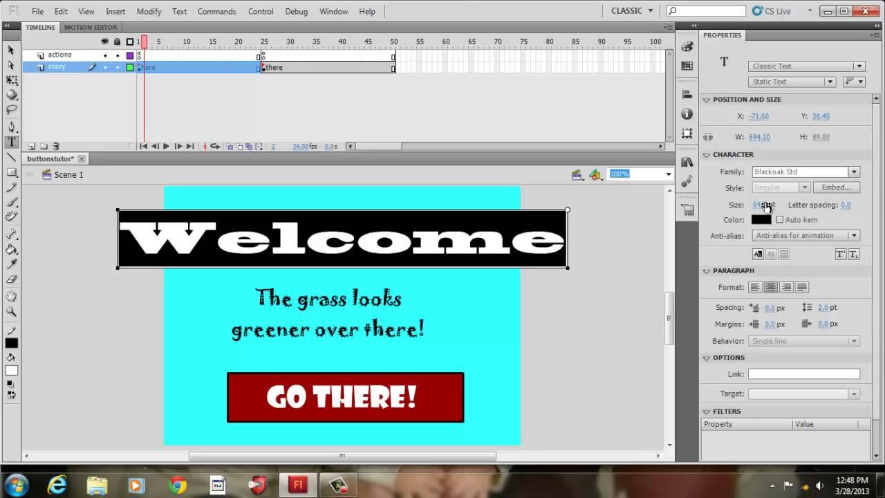creating interactive buttons with adobe flash cs5 5 youtube rh youtube com Adobe Flash Logo Adobe Flash CC