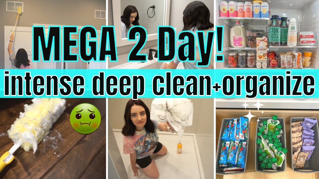*MEGA* 2 DAY CLEAN WITH ME | DEEP CLEAN + ORGANIZE | EXTREME CLEANING MOTIVATION