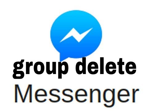 How to delete a chat group on facebook messenger