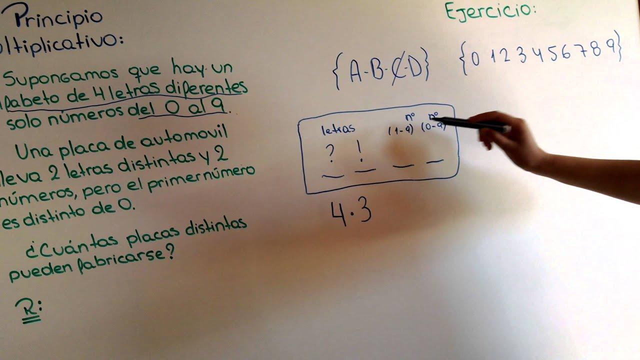 Principio multiplicativo y diagrama de arbol - YouTube