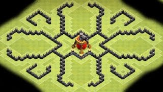 Clash of Clans - NEW Air Sweeper BEST Townhall 9 (TH9) Farming BASE! New Update Air Sweeper 2015