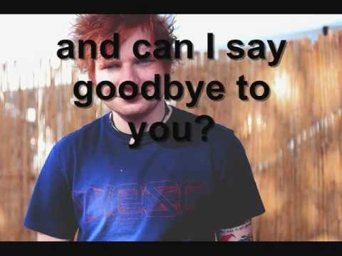 Ed Sheeran ft. Dat Rotten - Goodbye To You (Lyrics)