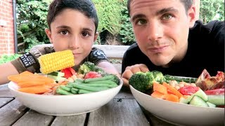 One of Healthy Crazy Cool's most viewed videos: WHAT MY VEGAN SON & I EAT IN A DAY ☘️