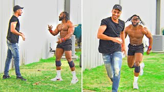 Pranking a body builder for 24 hours!