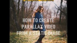 أسرع طريقة لإنشاء 2.5 D المنظر تأثير الفيديو من صورة ثابتة على فوتوشوب