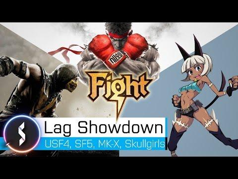Lag Showdown Street Fighter vs. Mortal Kombat vs. Skullgirls
