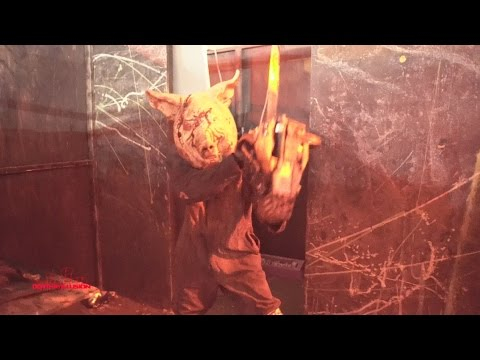 The Flesh Yard Haunted House (HD) Anaheim California 2016