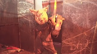 The Flesh Yard Haunted House (hd) Anaheim California 2016