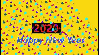 2020 Happy New Year welcome 2020