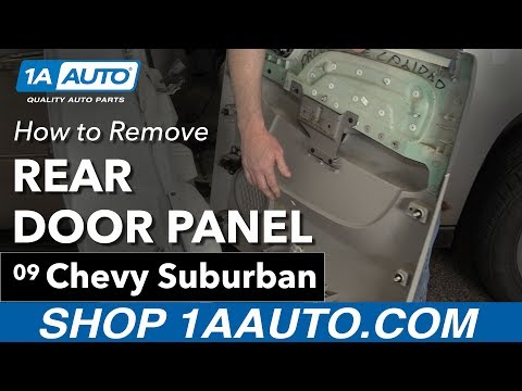 How To Remove Rear Door Panel 07 14 Chevy Suburban Youtube