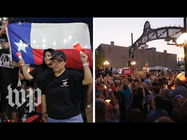 'Our ties are strong': Mourners gather at vigils to remember victims of El Paso and Dayton shootings