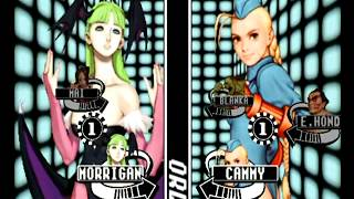 Capcom VS SNK Pro (Dreamcast) Arcade Mode as Morrigan/Mai
