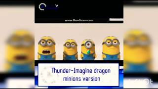 THUNDER - Imagine dragon MINION COVER KEREN!