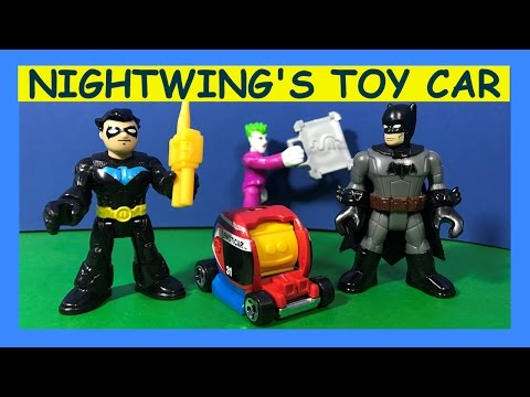 Imaginext Nightwing Remote Control Car Spoils Joker Gotham City Bank Heist , Batman