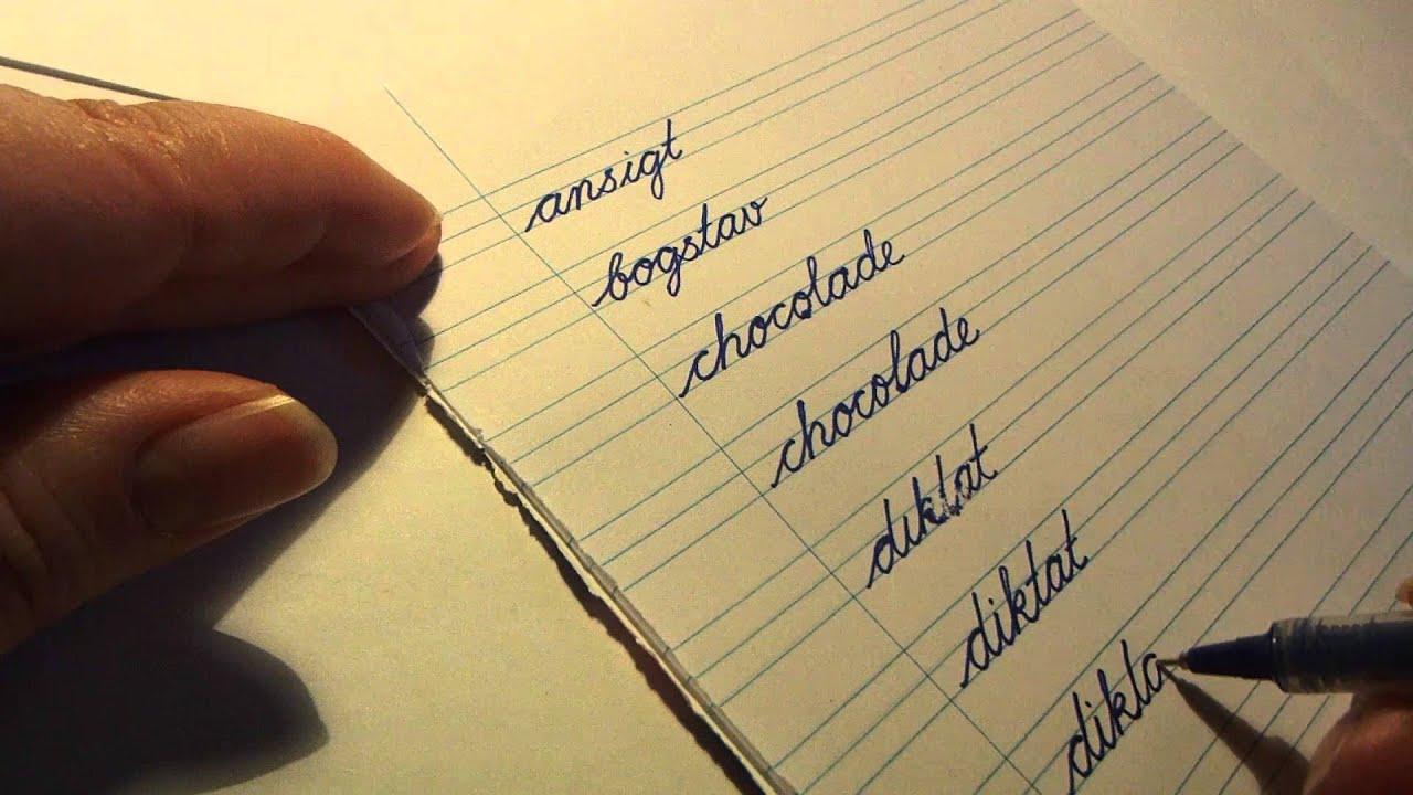lær at skrive skråskrift