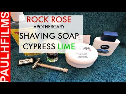 Parker Variant Adjustable DE Razor -  Rose Rock Cypress Lime Shaving soap