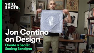Inside the Studio: Design a Secret Society Bandana with Jon Contino(To learn more from Jon, check out his classes on Skillshare: http://skl.sh/1bCokKH With clients ranging from Nike to Kiehl's to Sports Illustrated, graphic designer ..., 2015-05-12T13:44:59.000Z)