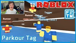 Parkour with Extreme Tag? It can only be Roblox Parkour Tag!!! | Fraser2TheMax | Roblox Kid Gamer