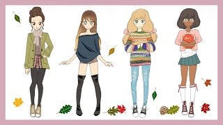 ❀ Drawing Tutorial | How to draw 4 Fall Outfits ❀