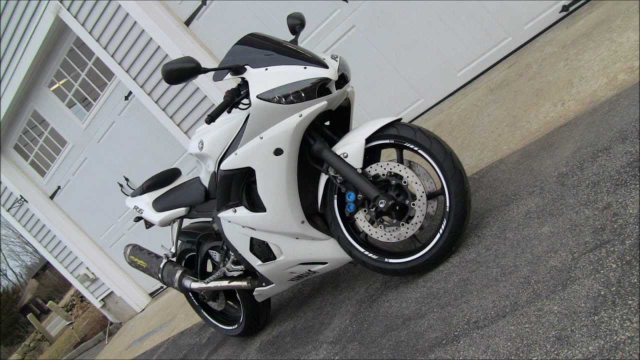 Custom White 2004 Yamaha R6 Street Bike Walk Around Youtube