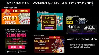 ★★TOP 5 No Deposit Bonus Casinos for 2018★★