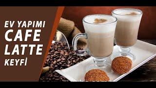 BOL KÖPÜKLÜ LATTE KAHVE EVDE NASIL YAPILIR? | Tatlı Sanatı | CAFE LATTE KEYFİ | Coffee Latte