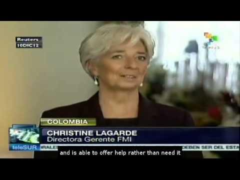 IMF's Lagarde praises Colombia's economy