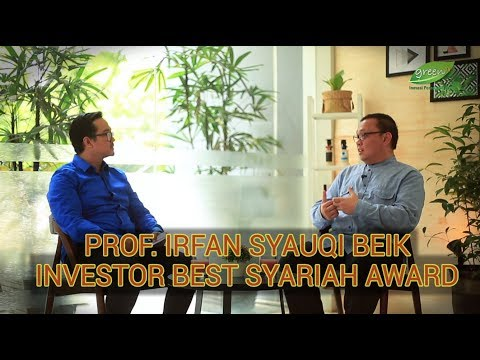 Dr. Irfan Syauqi Beik : Investor Best Syariah Award 2018 Kategori Akademisi