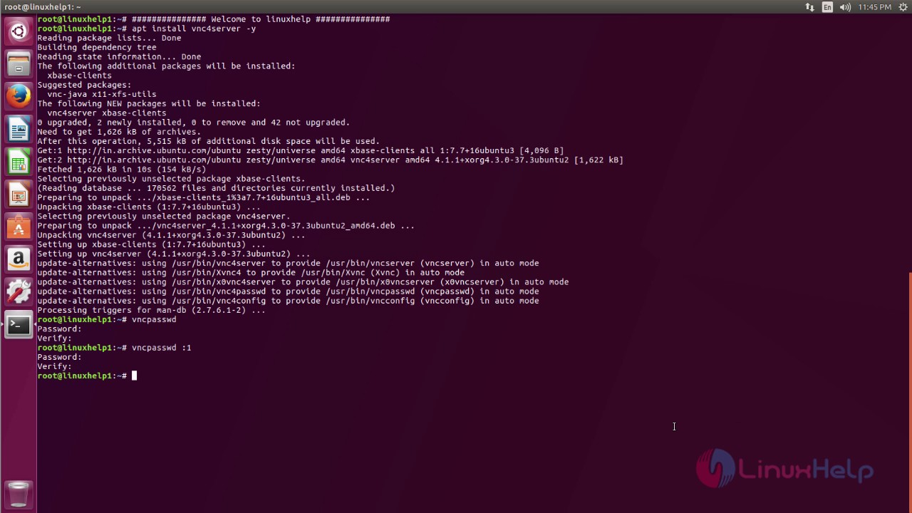 How to install VNC Server on Ubuntu 17 04