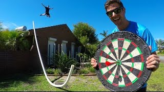 IMPOSSIBLE DARTS BULLSEYE! (WITH HUGE PIPE) | How Ridiculous
