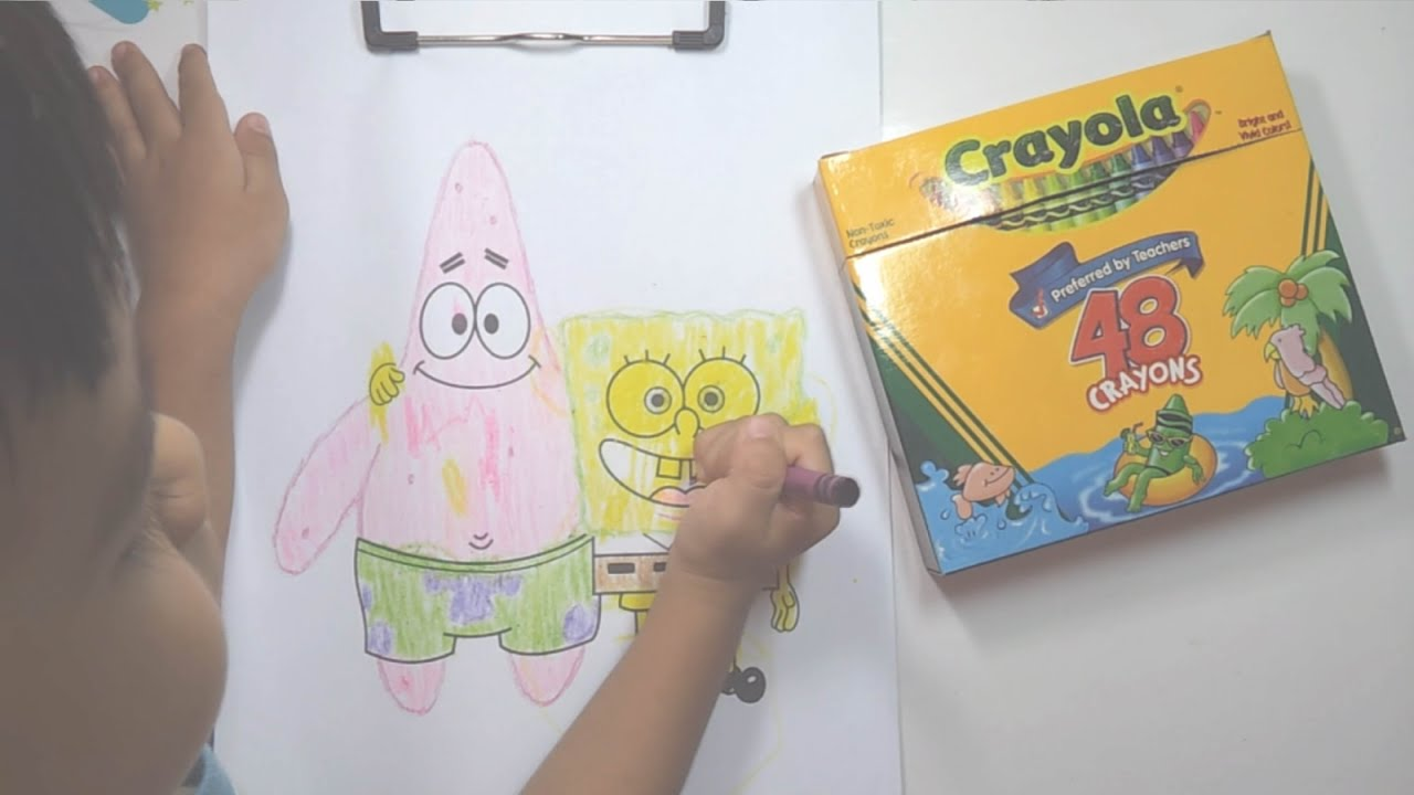 free spongebob coloring page youtube