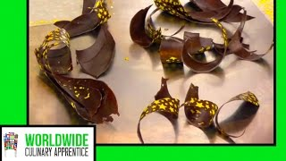 Chocolate Garnishes - Make Chocolate Curls - Chocolate Loops - Chocolate Twist - Pastry Classes