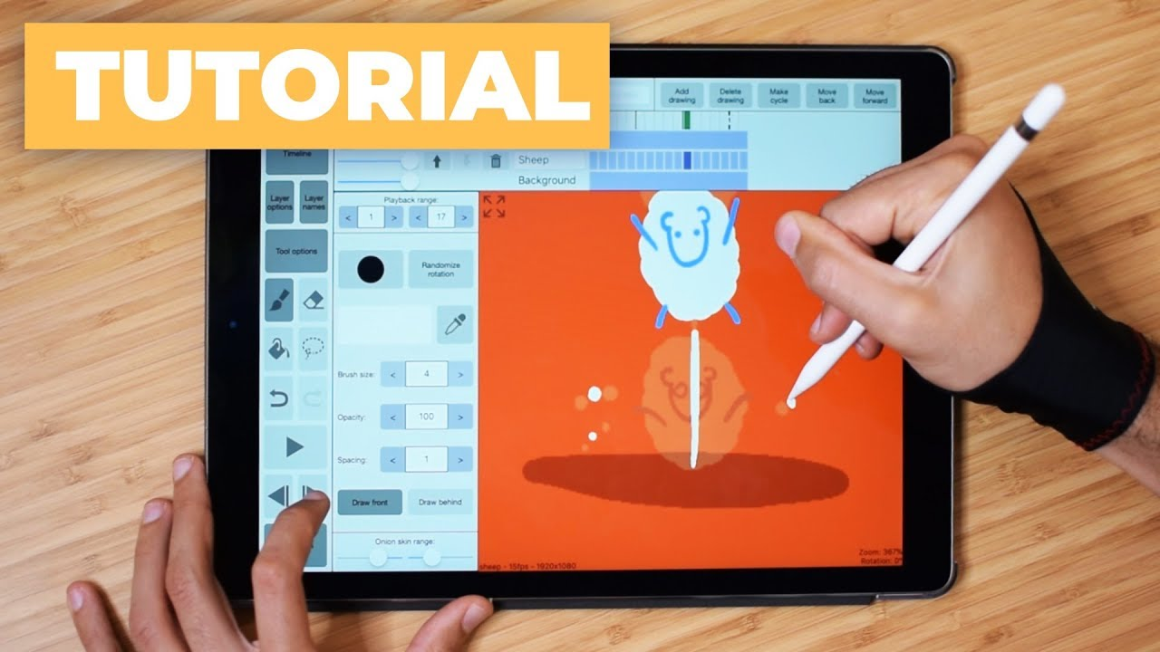How to Draw a Frame by Frame Animation with iPad Pro ✍ - YouTube