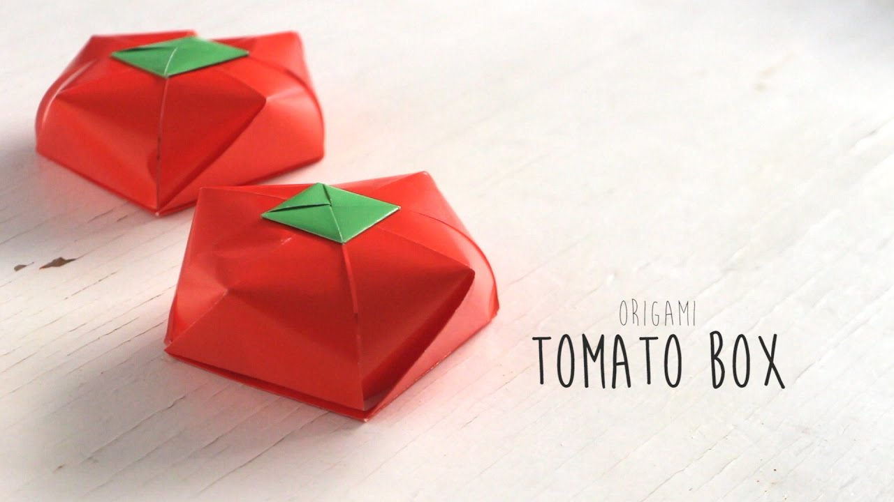 Origami Tomato Box - YouTube - photo#48