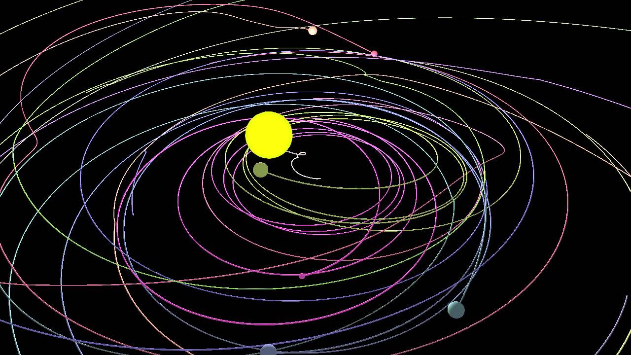 planets orbiting video - 1280×720