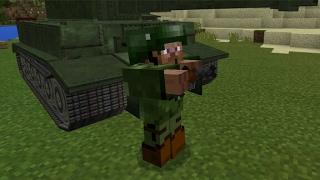 Обзор мода War Tank || Minecraft PE