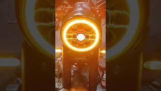 Royal Enfield led headlight modified 🔥