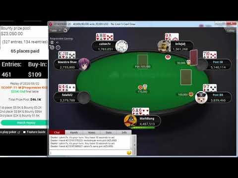 "Download Replay |""MarkBang"" Final table PokerStars SCOOP-11-M $109 NL 5-Card Draw Progressive KO May 02, 2020"