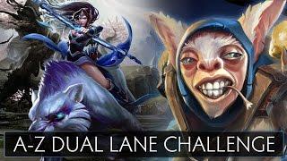 Dota 2 A-Z Dual Lane Challenge - Meepo and Mirana